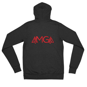 AmpMuscle AMGA Modern Lightweight Unisex Zipper Hoodie Jacket - AMGA FIT