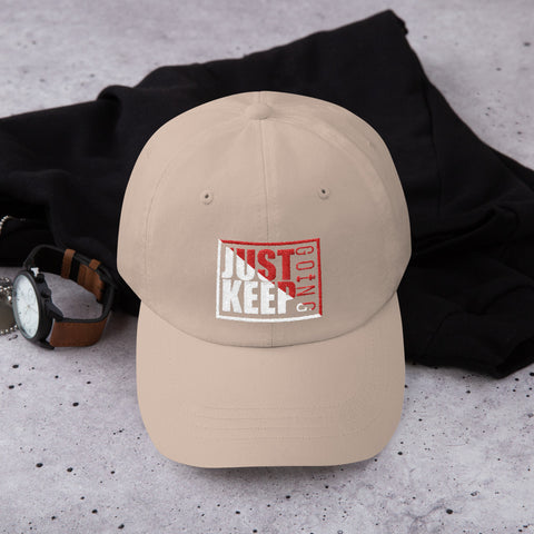 Image of Just Keep Going Low Profile Adjustable Dad Hat - AMGA FIT