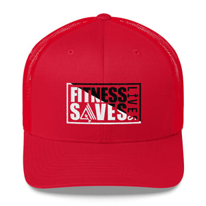 Fitness Saves Lives Mid-Profile Mesh Adjustable Classic Trucker Hat - AMGA FIT