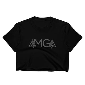 AMGA Women's Fitted Raw Hem Crop Top - AMGA FIT