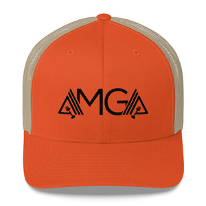 AMGA Mid-Profile Mesh Adjustable Classic Trucker Hat - AMGA FIT