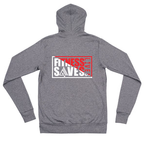 AMGA Fitness Saves Lives Modern Lightweight Unisex Zipper Hoodie Jacket - AMGA FIT