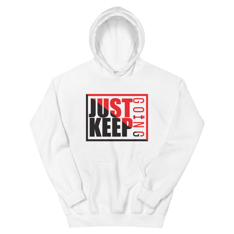 Image of Just Keep Going Athletic Double Lined Unisex Hoodie - AMGA FIT