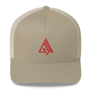 Amp'd Mid-Profile Mesh Adjustable Classic Trucker Hat - AMGA FIT