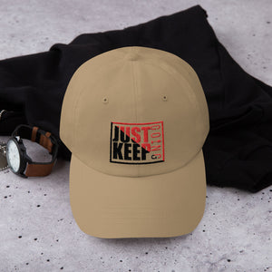 Just Keep Going Low Profile Adjustable Dad Hat - AMGA FIT