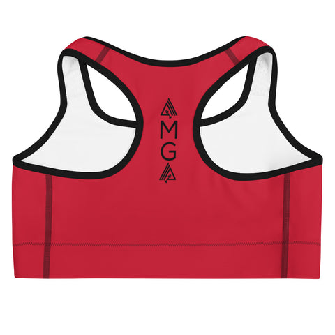AmpMuscle Get Amp'd Medium Intensity Double Layer Racerback Wide Band Sports Bra - AMGA FIT