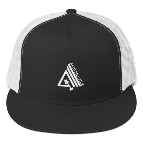 Image of AmpMuscle High Profile Snapback Trucker Cap - AMGA FIT