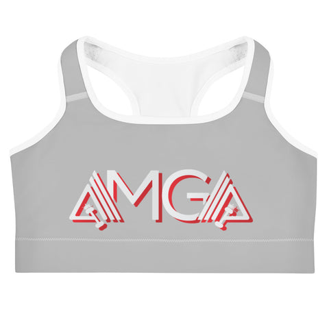 AMGA Medium Intensity Double Layer Racerback Wide Band Sports Bra - AMGA FIT