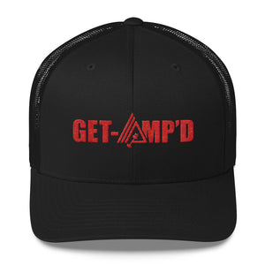 Get Amp'd Mid-Profile Mesh Adjustable Classic Trucker Hat - AMGA FIT