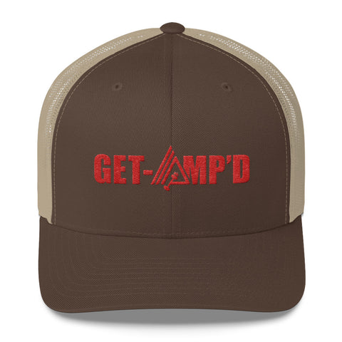 Image of Get Amp'd Mid-Profile Mesh Adjustable Classic Trucker Hat - AMGA FIT