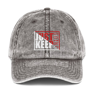 Just Keep Going Vintage Low Profile Adjustable Dad Hat - AMGA FIT