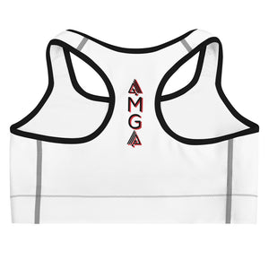 Fitness Saves Lives Medium Intensity Double Layer Racerback Wide Band Sports Bra - AMGA FIT