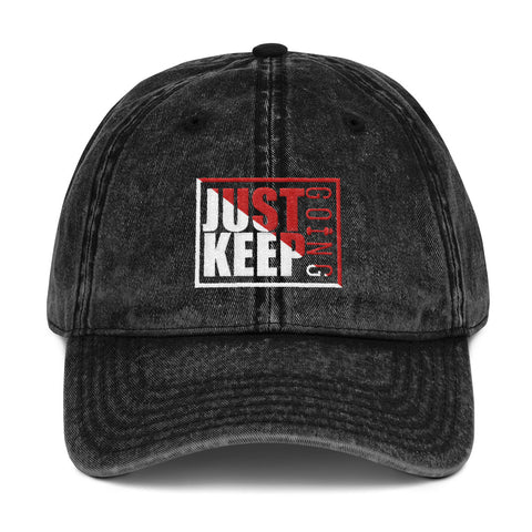 Image of Just Keep Going Vintage Low Profile Adjustable Dad Hat - AMGA FIT
