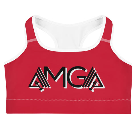 Image of AMGA Medium Intensity Double Layer Racerback Wide Band Sports Bra - AMGA FIT