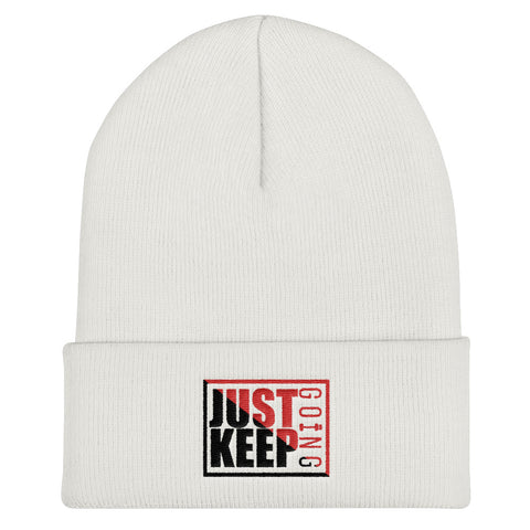 Image of Just Keep Going Unisex Cuffed Beanie Hat - AMGA FIT