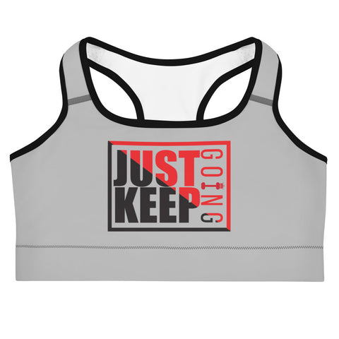 Image of Just Keep Going Medium Intensity Double Layer Racerback Wide Band Sports Bra - AMGA FIT