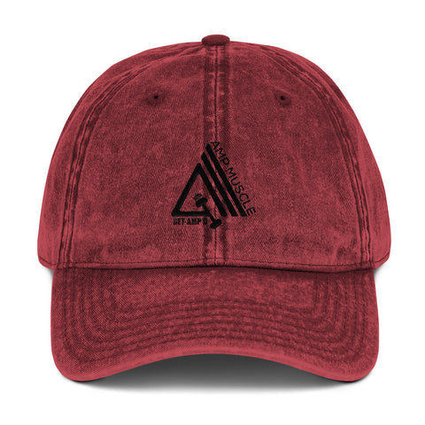 Image of AmpMuscle Get Amp'd Vintage Low Profile Adjustable Dad Hat - AMGA FIT