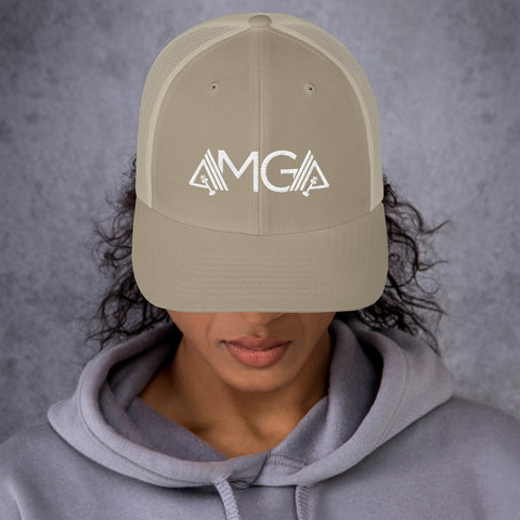 Image of AMGA Mid-Profile Mesh Adjustable Classic Trucker Cap - AMGA FIT