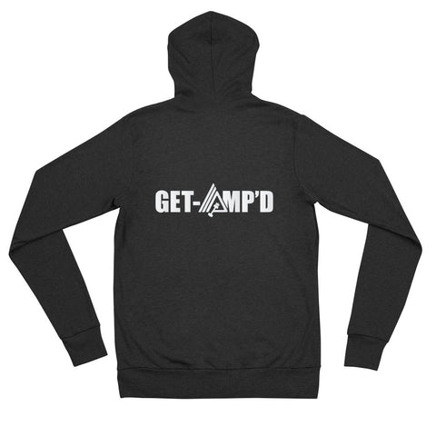 Image of AmpMuscle Get Amp'd Modern Lightweight Unisex Zipper Hoodie Jacket - AMGA FIT