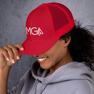 AMGA Mid-Profile Mesh Adjustable Classic Trucker Cap - AMGA FIT
