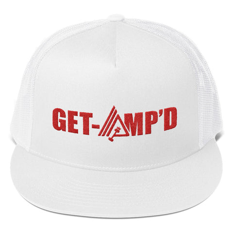 Image of Get Amp'd High Profile Snapback Trucker Cap - AMGA FIT