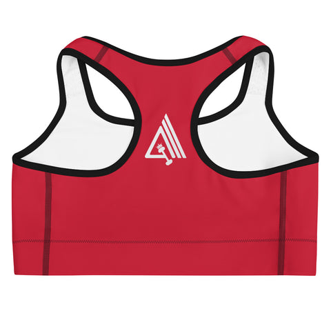 Image of Get Amp'd Medium Intensity Double Layer Racerback Wide Band Sports Bra - AMGA FIT