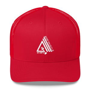 AmpMuscle Get Amp'd Mid-Profile Mesh Adjustable Classic Trucker Hat - AMGA FIT