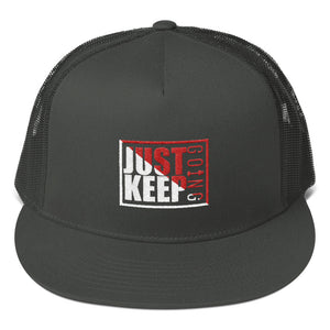 Just Keep Going High Profile Snapback Trucker Cap - AMGA FIT