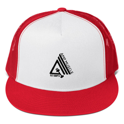 Image of AmpMuscle Get Amp'd High Profile Snapback Trucker Cap - AMGA FIT
