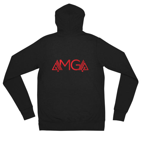 Image of AmpMuscle AMGA Modern Lightweight Unisex Zipper Hoodie Jacket - AMGA FIT