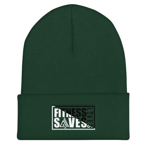 Image of Fitness Saves Lives Unisex Cuffed Beanie Hat - AMGA FIT