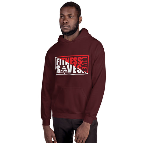 Fitness Saves Lives Athletic Double Lined Unisex Hoodie - AMGA FIT