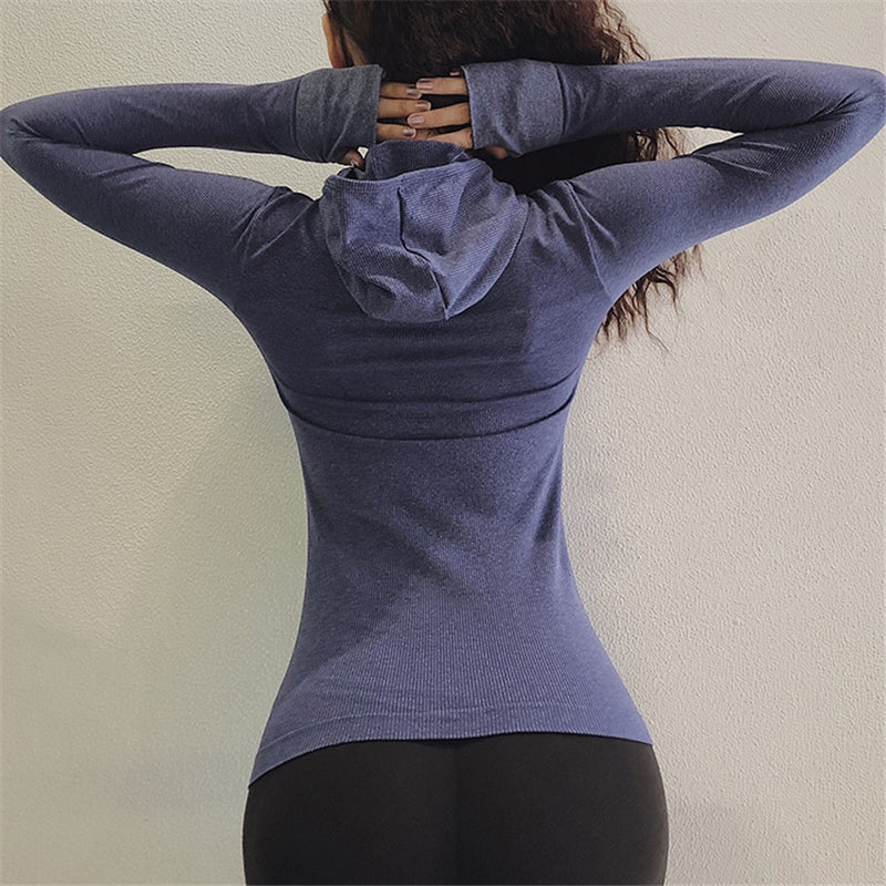 Seamless Hooded Active Top