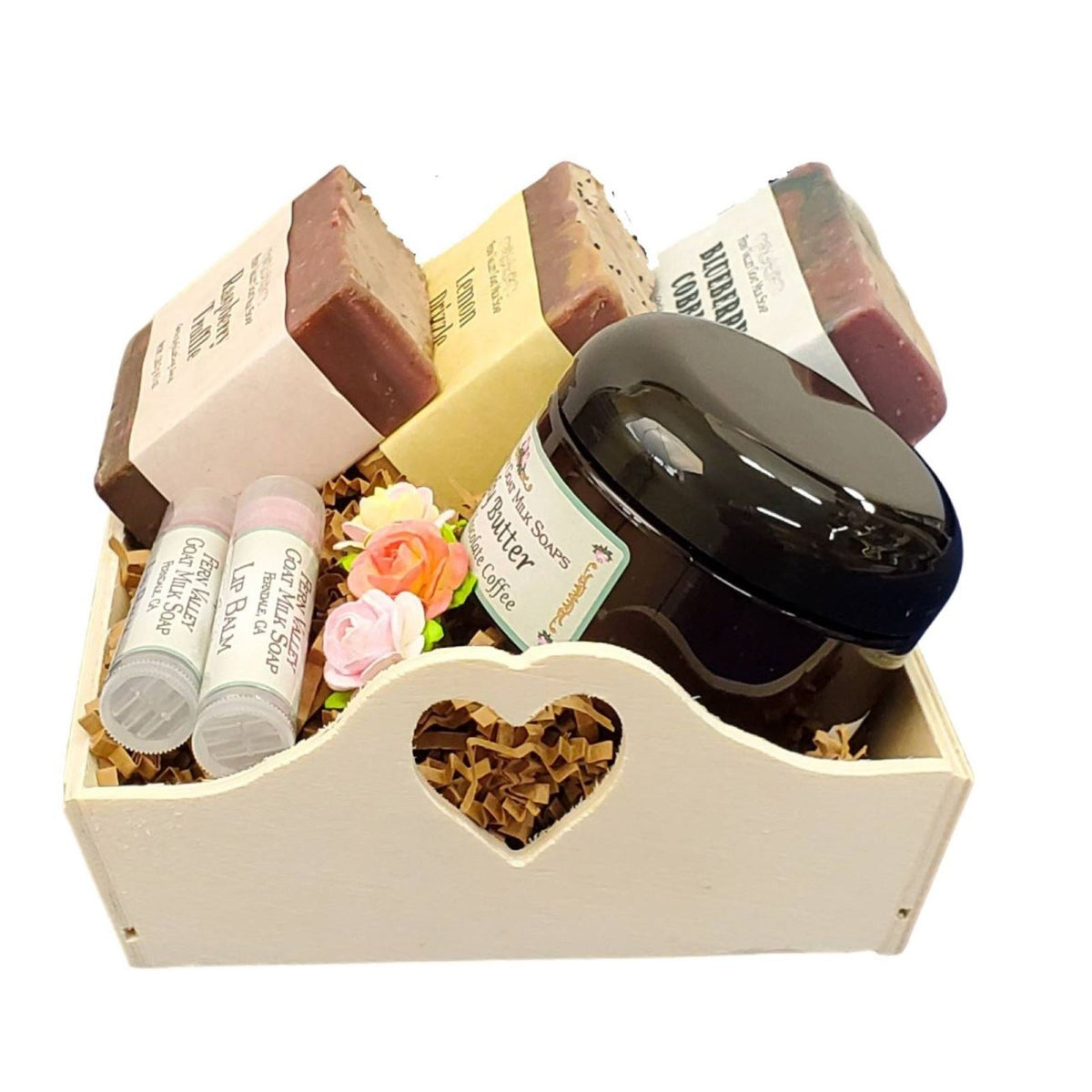 Dessert Lovers Gift Crate | Handmade Goat Milk Soaps | Decadent Chocolate Body Butter