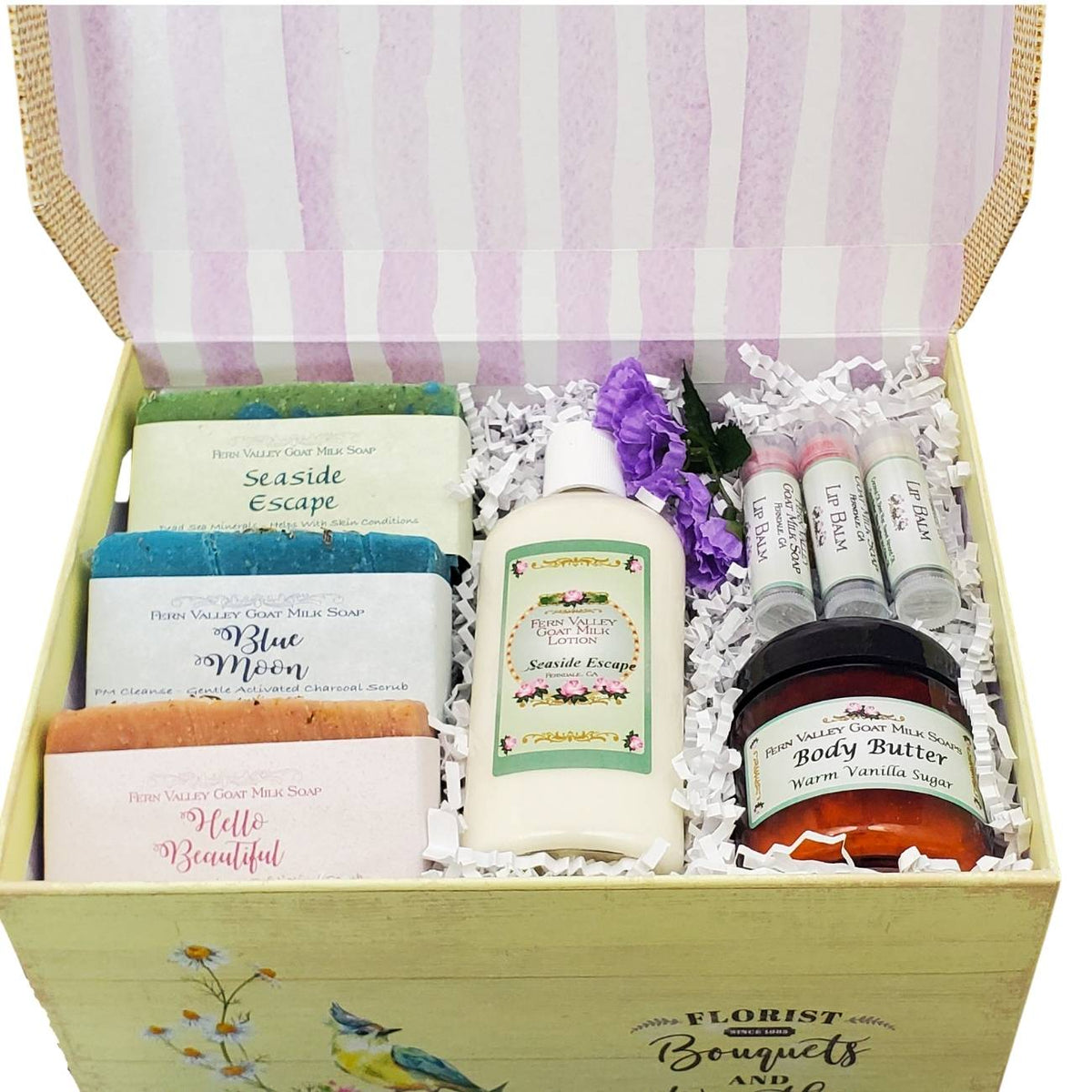 Joyful Gift Box for Her | Handmade Goat Milk Soaps and Lotion