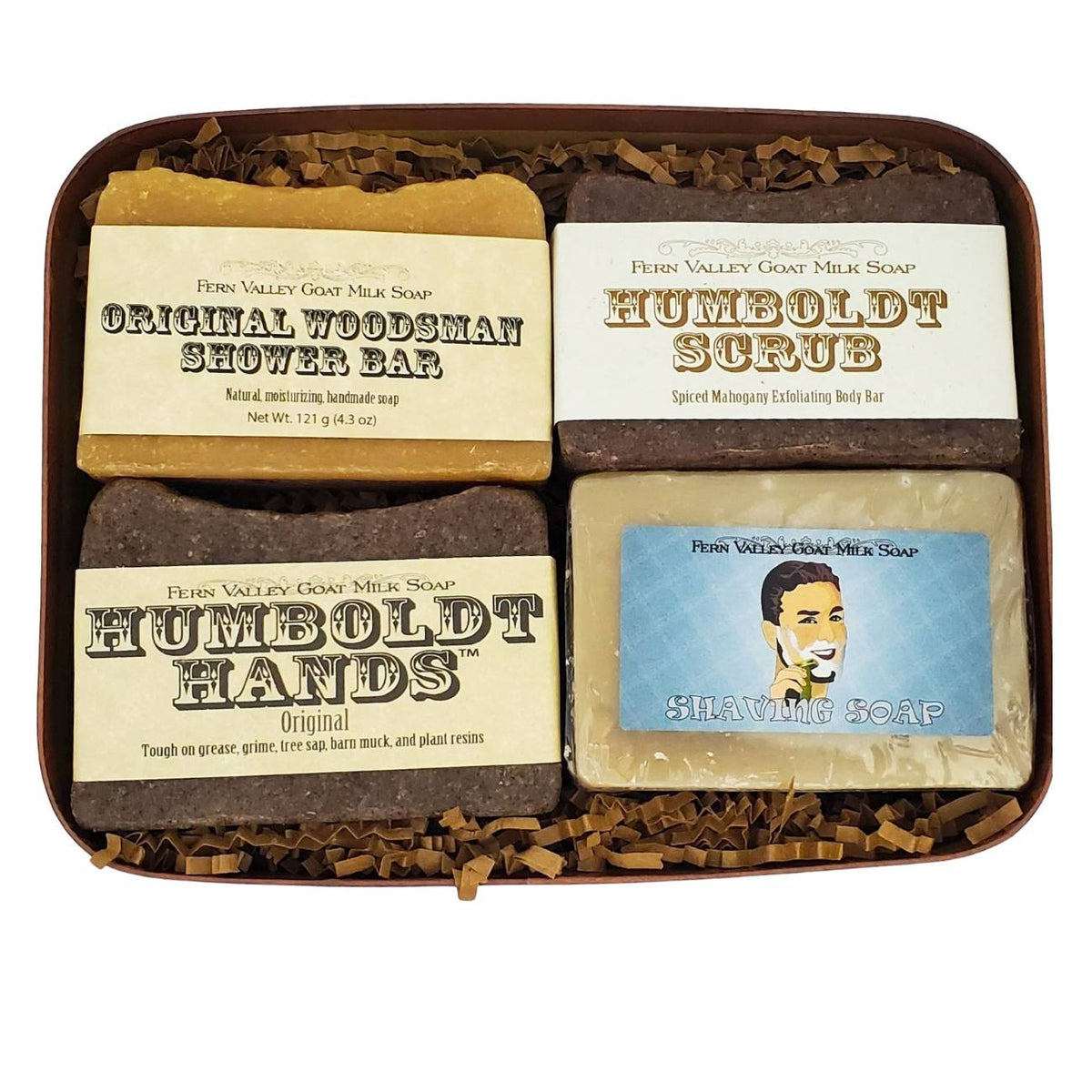 Men's Gift Box Filled With Handmade Soaps