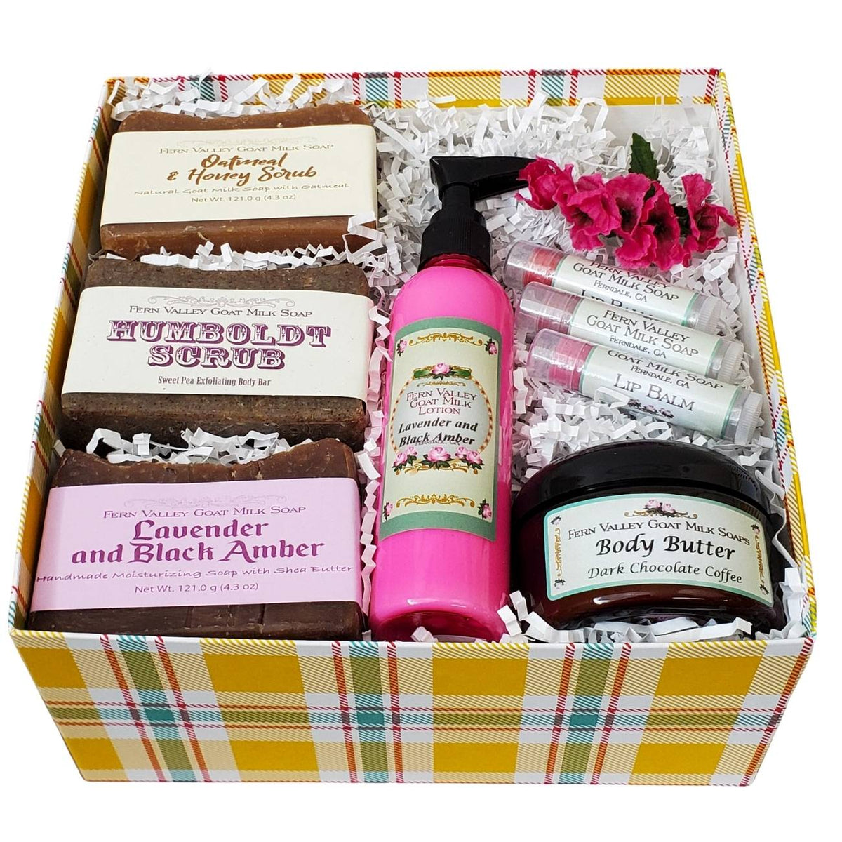 Novelty Gift Box Filled With Handmade Soaps and Lotion