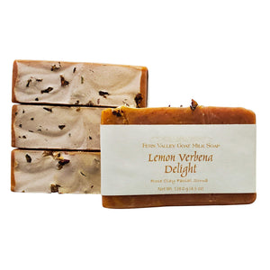 Lemon Verbena Delight Rose Clay Facial Scrub-Exfoliating Scrub Soap-Fern Valley Soap