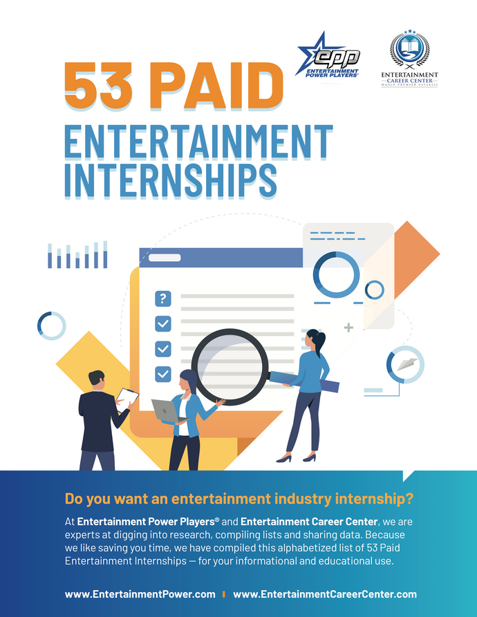 53 Paid Entertainment Internships You Should Know About