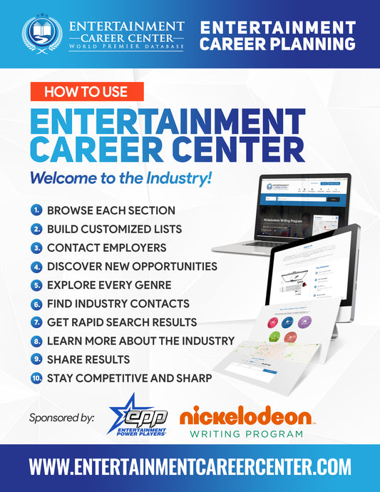 Easy Sign Up: How to Use Entertainment Career Center