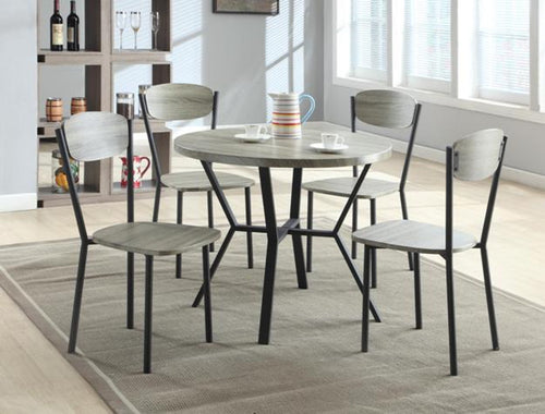#1230 Gray 4-Piece Dining Table Set