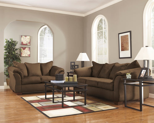 Darcey Brown Sofa Set