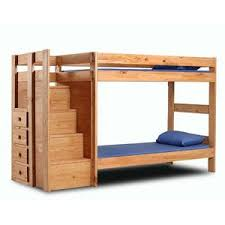 #4941 Solid Wood Twin/Twin Bunkbed with Staircase and 4 Drawers