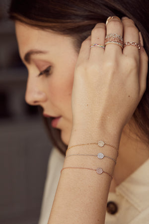Circle of Diamonds Bracelet - Embody Los Angeles