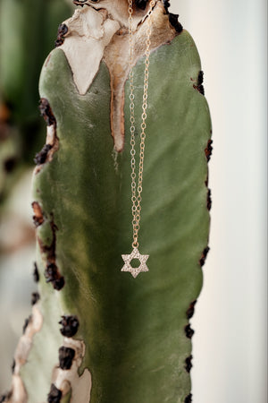 Pave Diamond Star of David Necklace - Embody Los Angeles