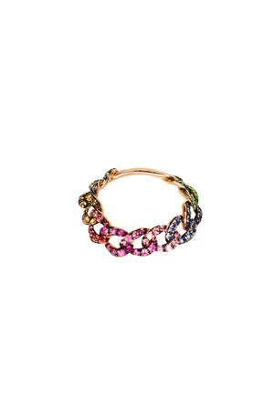 Rainbow Chain Link Ring - Embody Los Angeles