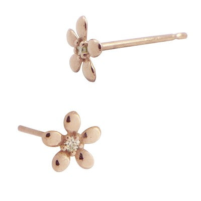 Daisy Diamond Stud Earrings - Embody Los Angeles