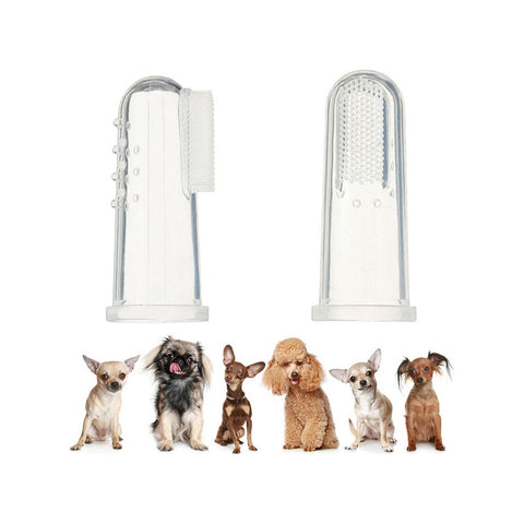 4pcs Dog Finger Toothbrush Dental Hygiene Finger Brushes for Small to Large Dogs Cats and Most Pets - General Pet Store