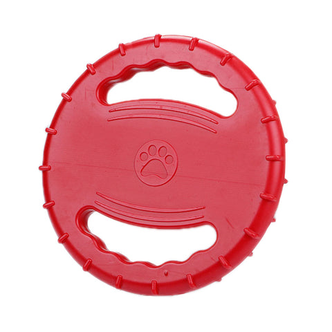 Pet Training Frisbee Dog Frisbee Dog Toys Pet Teeth Training Toys Natural Rubber Floatable Frisbee for Medium-size and Large Dogs - General Pet Store