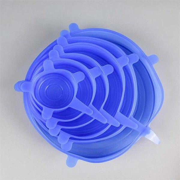 Reusable Silicone Cover Lid - 6 Set